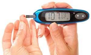 portrait of checking blood sugar