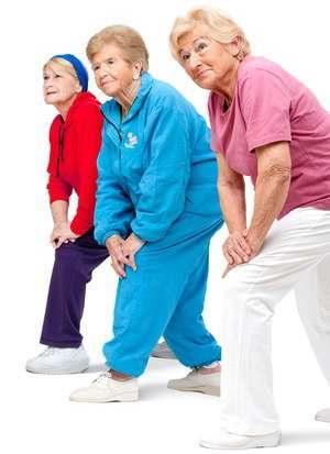 Elderly women exercising in order to prevent joint pain