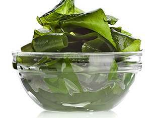A bowl of seaweed for healthy hair
